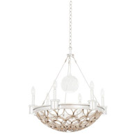 Loveland 6 Light 24 inch Gold Silver Leaf Pendant Ceiling Light