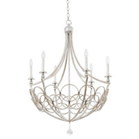 Loveland 6 Light 29 inch Gold Silver Leaf Chandelier Ceiling Light