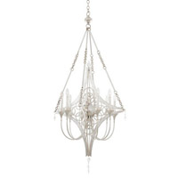 Loveland 8 Light 28 inch Gold Silver Leaf Chandelier Ceiling Light