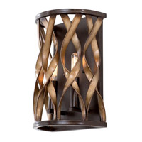 Kalco Lighting Soho 2 Light Wall Sconce in Milk Chocolate 501820MC
