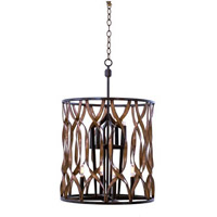 Kalco Lighting Soho 8 Light Foyer in Milk Chocolate 501852MC