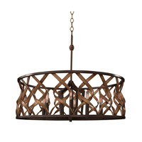 Soho 6 Light 28 inch Milk Chocolate Pendant Ceiling Light