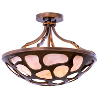 Kalco 501951CP Gramercy 3 Light 18 inch Copper Patina Semi Flush Mount Ceiling Light