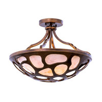Kalco Lighting Gramercy 3 Light Semi Flush Mount in Copper Patina 501951CP