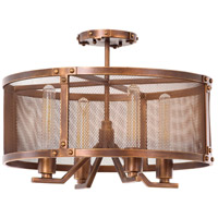Chelsea 4 Light 20 inch Copper Patina Semi Flush Mount Ceiling Light