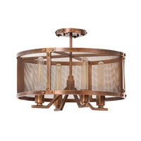 Kalco Lighting Chelsea 4 Light Semi Flush Mount in Copper Patina 502140CP