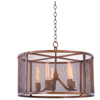 Kalco 502150CP Chelsea 5 Light 25 inch Copper Patina Pendant Ceiling Light