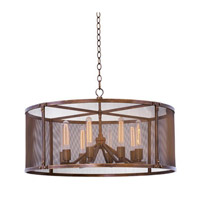 Kalco Lighting Chelsea 8 Light Pendant in Copper Patina 502151CP