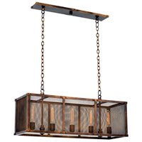 Kalco 502160CP Chelsea 5 Light 37 inch Copper Patina Island Ceiling Light