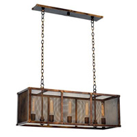 Kalco Lighting Chelsea 5 Light Island Light in Copper Patina 502160CP