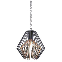 Kalco Lighting Metro I 1 Light Pendant in Antique Bronze with Antique Gold Accents 502251BZG