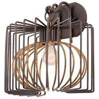 Kalco 502420BZG Metro Iii 1 Light 12 inch Bronze Gold Wall Sconce Wall Light