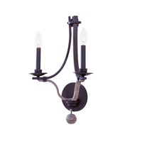 Lansing 2 Light 13 inch Satin Bronze Wall Bracket Wall Light