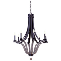 Kalco 502571SZ Lansing 8 Light 32 inch Satin Bronze Chandelier Ceiling Light