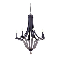 Kalco Lighting Lansing 8 Light Chandelier in Satin Bronze 502571SZ