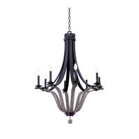 Kalco 502571SZ Lansing 8 Light 32 inch Satin Bronze Chandelier Ceiling Light