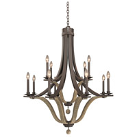 Kalco 502572SZ Lansing 12 Light 38 inch Satin Bronze Chandelier Ceiling Light