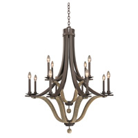 Lansing 12 Light 38 inch Satin Bronze Chandelier Ceiling Light