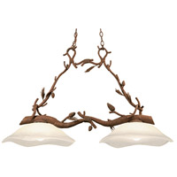 Kalco 5025PD Ponderosa 2 Light 46 inch Ponderosa Island Light Ceiling Light in Without Glass