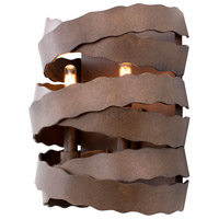 Kalco 502620BS Fulton 2 Light 9 inch Brownstone Wall Sconce Wall Light