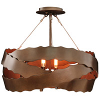 Kalco 502652BS Fulton 5 Light 20 inch Brownstone Semi Flush Mount Ceiling Light