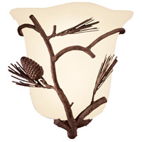 Kalco 5026PD Ponderosa 1 Light 10 inch Ponderosa Wall Sconce Wall Light in Without Glass