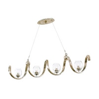 Kalco 502760PT Madison 4 Light 45 inch Platinum Island Light Ceiling Light