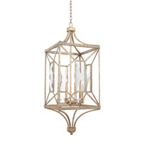 Kalco 503051PT Crystal Cove 4 Light 15 inch Platinum Foyer Ceiling Light