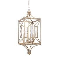 Kalco 503051PT Crystal Cove 4 Light 15 inch Platinum Foyer Ceiling Light