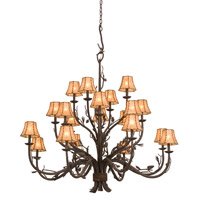 Kalco Ponderosa 20 Light Chandelier in Sycamore 5030SC/8045