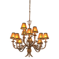 Ponderosa 12 Light 35 inch Sycamore Chandelier Ceiling Light in Without Glass, Mica (S205)