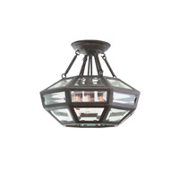 Pompano 6 Light 16 inch Heirloom Bronze Semi Flush Mount Ceiling Light