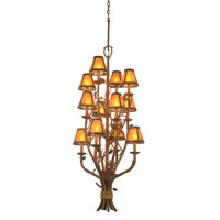 Ponderosa 12 Light 22 inch Sycamore Foyer Light Ceiling Light in Without Glass, Mica (S205)