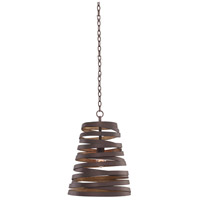 Kalco 503450BZG Tempest 1 Light 9 inch Bronze Gold Mini Pendant Ceiling Light