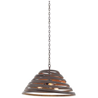 Kalco 503452BZG Tempest 3 Light 26 inch Bronze Gold Pendant Ceiling Light