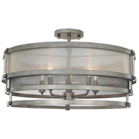 Kalco 503640BJT Delano 5 Light 24 inch Bronze Jewel Tone Semi Flush Mount Ceiling Light
