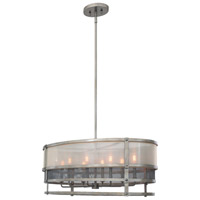 Kalco 503654BJT Delano 8 Light 36 inch Bronze Jewel Tone Pendant Ceiling Light