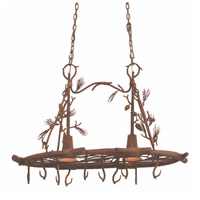Ponderosa 2 Light 36 inch Sycamore Pot Rack Ceiling Light