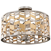 Kalco 503940JM Broadway 3 Light 19 inch Jewel Metallic Pendant Ceiling Light
