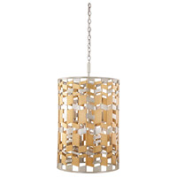 Broadway 9 Light 19 inch Jewel Metallic With Silver Leaf Foyer Ceiling Light