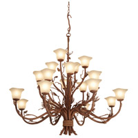 Kalco 5040PD/1255 Ponderosa 20 Light 60 inch Ponderosa Chandelier Ceiling Light in Small Piastra (1255)