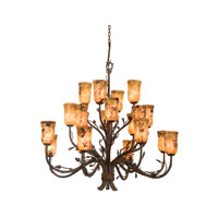 Kalco Ponderosa 20 Light Chandelier in Sycamore 5040SC/PS5201
