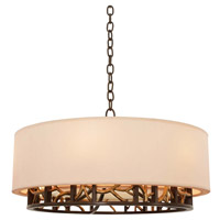 Hudson 6 Light Antique Bronze and Antique Gold Pendant Ceiling Light