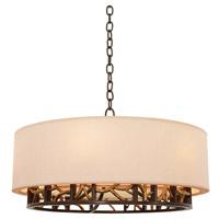 Kalco 504152BZG Hudson 6 Light 24 inch Bronze Gold Pendant Ceiling Light