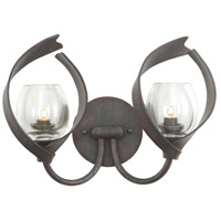 Kalco 504222OC Solana 2 Light 16 inch Oxidized Copper Vanity Light Wall Light