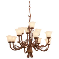 Kalco 5042PD/1255 Ponderosa 12 Light 35 inch Ponderosa Chandelier Ceiling Light in Small Piastra (1255)
