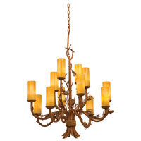 Ponderosa 12 Light 35 inch Ponderosa Chandelier Ceiling Light in Faux Calcite (1501)