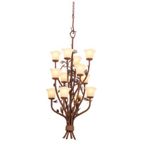 Kalco 5043PD/1255 Ponderosa 12 Light 22 inch Ponderosa Foyer Ceiling Light in Small Piastra (1255)