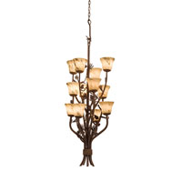 Kalco Ponderosa 12 Light Foyer Light in Sycamore 5043SC/1239