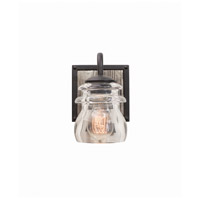 Kalco 504631BI Bainbridge 1 Light 6 inch Black Iron Vanity Light Wall Light